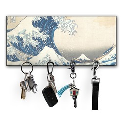 Great Wave of Kanagawa Key Hanger w/ 4 Hooks