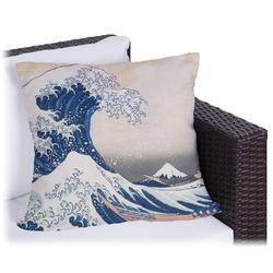 Great Wave off Kanagawa Outdoor Pillow