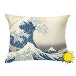 Great Wave off Kanagawa Outdoor Throw Pillow (Rectangular)