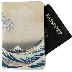 Great Wave of Kanagawa Passport Holder - Fabric