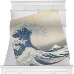 Great Wave off Kanagawa Minky Blanket