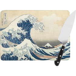 Great Wave of Kanagawa Rectangular Glass Cutting Board