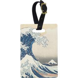 Great Wave off Kanagawa Plastic Luggage Tag - Rectangular