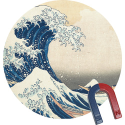 Great Wave off Kanagawa Round Fridge Magnet