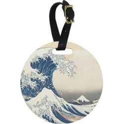 Great Wave of Kanagawa Round Luggage Tag