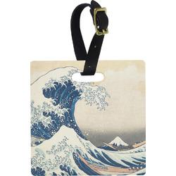 Great Wave of Kanagawa Square Luggage Tag
