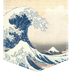 Great Wave of Kanagawa Iron On Faux Pocket