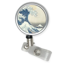 Great Wave of Kanagawa Retractable Badge Reel