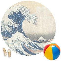 Great Wave of Kanagawa Round Beach Towel