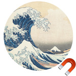 Great Wave of Kanagawa Round Car Magnet