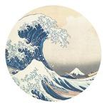 Great Wave of Kanagawa Round Decal