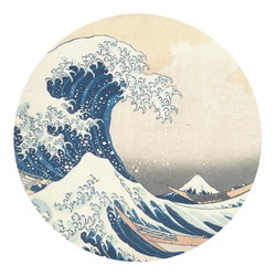 Great Wave of Kanagawa Round Decal