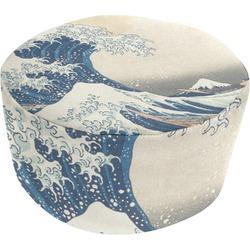 Great Wave of Kanagawa Round Pouf Ottoman