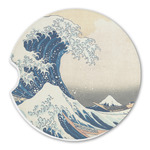 Great Wave of Kanagawa Sandstone Car Coasters