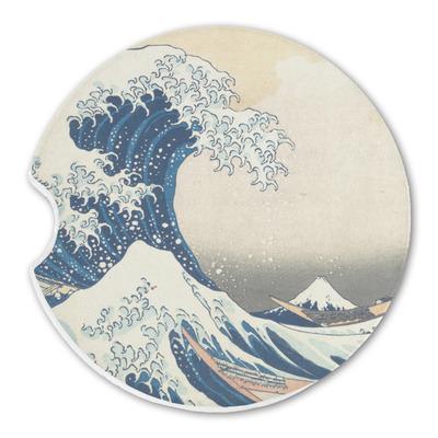 Great Wave of Kanagawa Sandstone Car Coasters