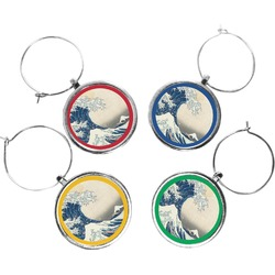 Great Wave of Kanagawa Wine Charms (Set of 4)