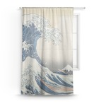 Great Wave of Kanagawa Sheer Curtains