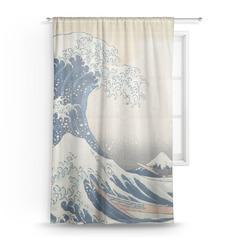 Great Wave off Kanagawa Sheer Curtains