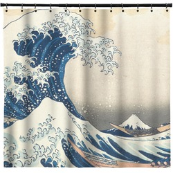 Great Wave Of Kanagawa Shower Curtain   Custom Width U0026 Height