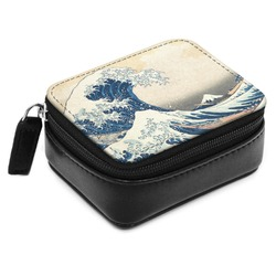 Great Wave of Kanagawa Small Leatherette Travel Pill Case