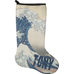 Great Wave of Kanagawa Christmas Stocking - Neoprene