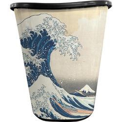 Great Wave of Kanagawa Waste Basket - Double Sided (Black)
