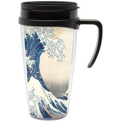 Great Wave of Kanagawa Travel Mug with Handle