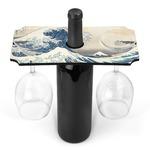 Great Wave of Kanagawa Wine Bottle & Glass Holder
