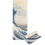Great Wave of Kanagawa Yoga Mat - Printable Front and Back