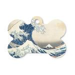 Great Wave off Kanagawa Bone Shaped Dog ID Tag