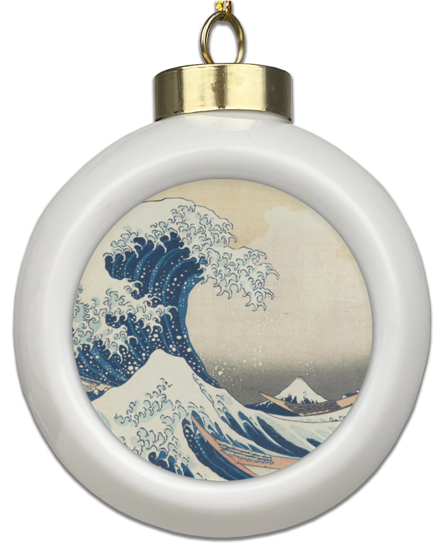 Great Wave Off Kanagawa Ceramic Ball Ornament Youcustomizeit
