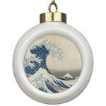 Great Wave off Kanagawa Ceramic Ball Ornament