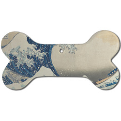 Great Wave off Kanagawa Ceramic Dog Ornament - Front