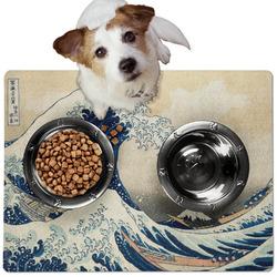 Great Wave off Kanagawa Dog Food Mat - Medium