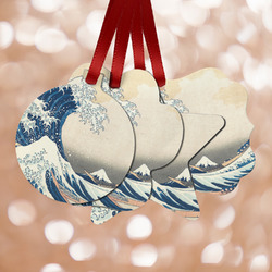Great Wave off Kanagawa Metal Ornaments - Double Sided