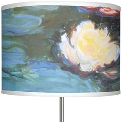 """Water Lilies #2 13"""" Drum Lamp Shade"""