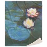 Water Lilies #2 Sherpa Throw Blanket