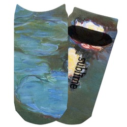 Water Lilies #2 Adult Ankle Socks