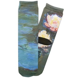Water Lilies #2 Adult Crew Socks