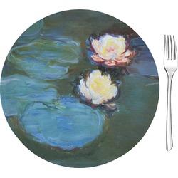 "Water Lilies #2 8"" Glass Appetizer / Dessert Plates - Single or Set"