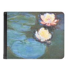 Water Lilies #2 Genuine Leather Men's Bi-fold Wallet
