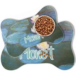 Water Lilies #2 Bone Shaped Dog Food Mat