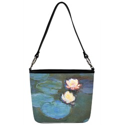 Water Lilies #2 Bucket Bag w/ Genuine Leather Trim