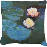 Water Lilies #2 Faux-Linen Throw Pillow