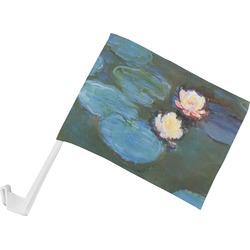 Water Lilies #2 Car Flag