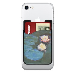 Water Lilies #2 2-in-1 Cell Phone Credit Card Holder & Screen Cleaner
