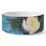 Water Lilies #2 Ceramic Dog Bowl