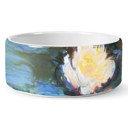 Water Lilies #2 Ceramic Pet Bowl