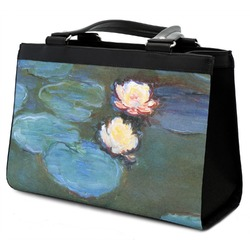 Water Lilies #2 Classic Tote Purse w/ Leather Trim