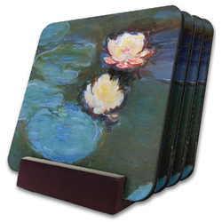 Water Lilies #2 Coaster Set w/ Stand